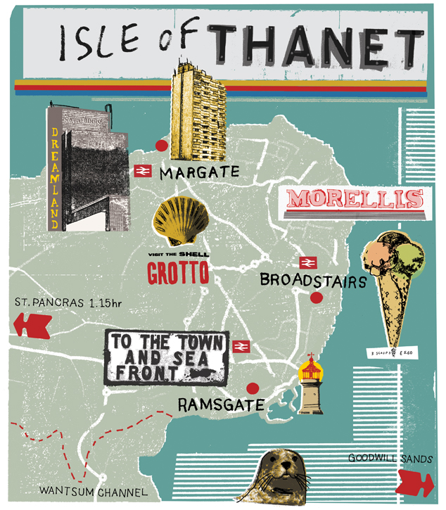 Isle of Thanet map